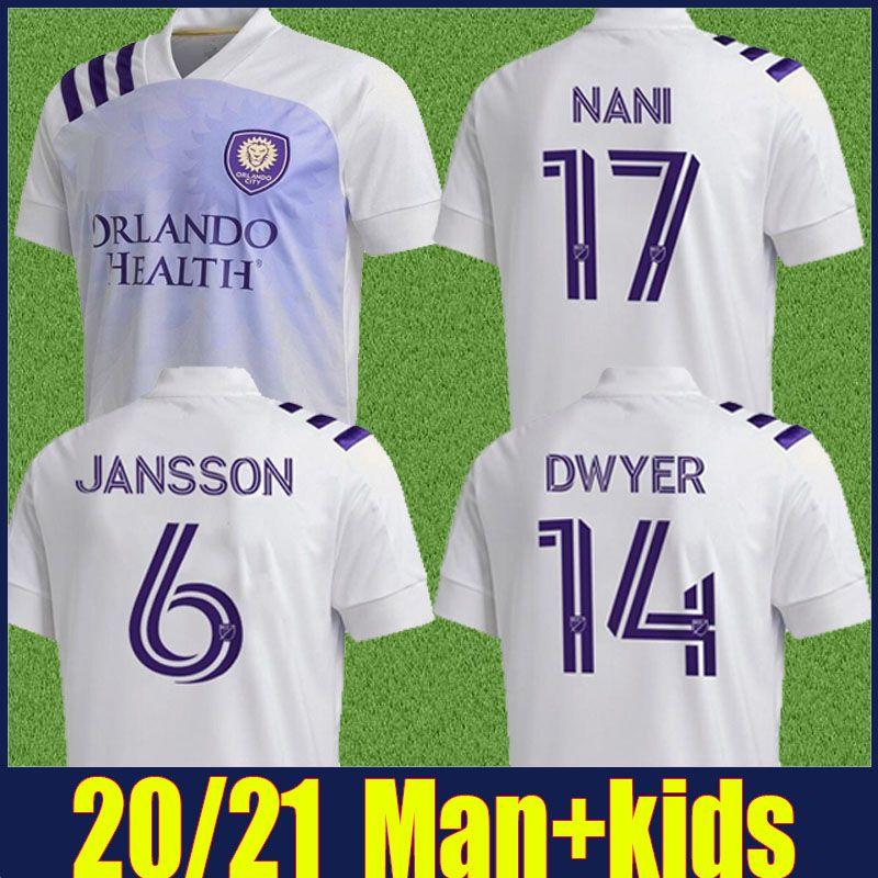 MLS 2020 kit Orlando City Soccer Jersey PEREYRA NANI Football Shirt JR.URSO DWYER Orlando City SC crianças enfants mais 10pcs frete grátis DHL