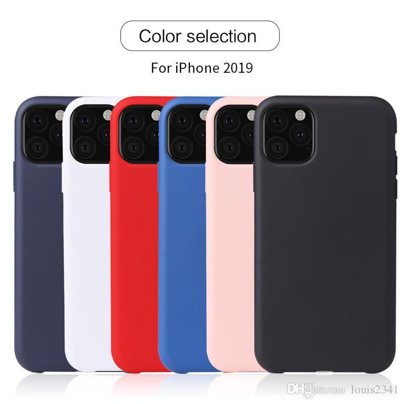 SILICONE LIQUIDO SOTTILE Custodia Cover per iPhone 11 Pro XS MAX
