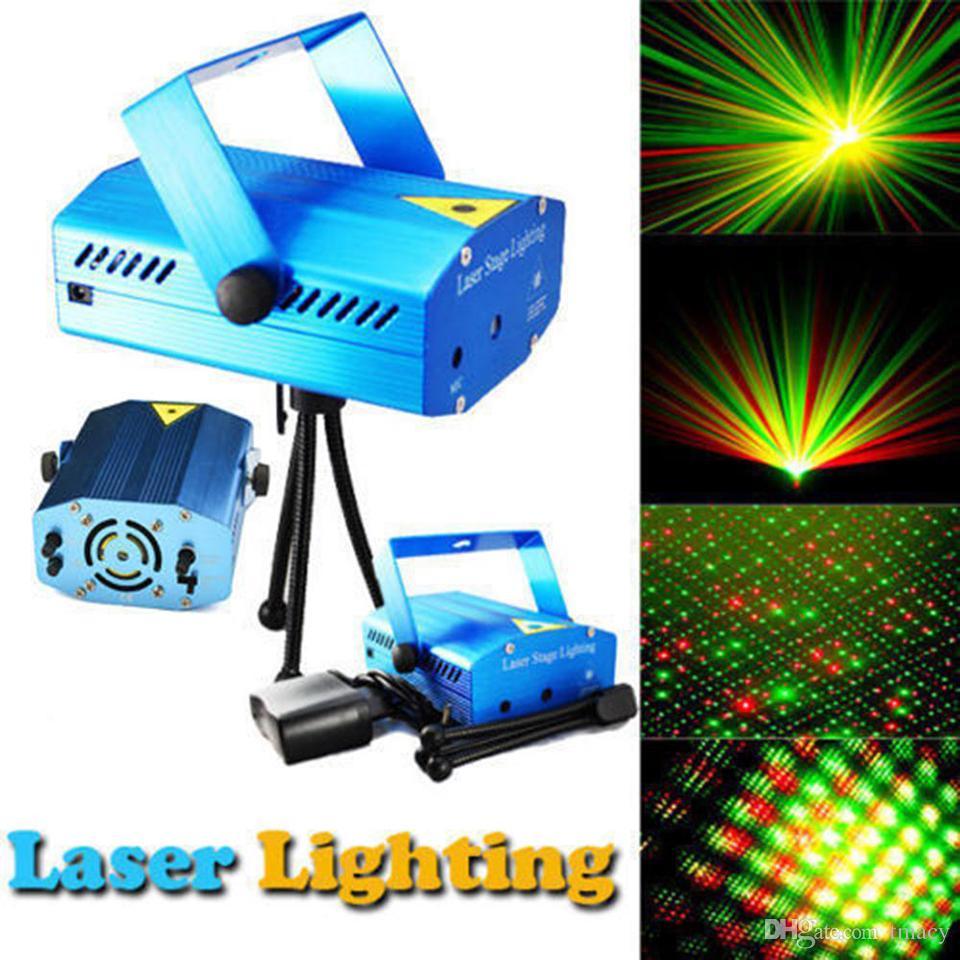 150mW Mini Kırmızı Yeşil Parti mavisini Hareketli / siyah cisim Lazer Sahne Işık lazer DJ parti ışık Twinkle ile Tripod led sahne lamba
