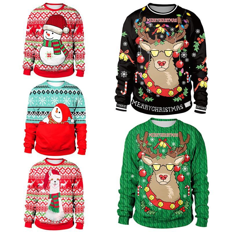 2019 Çirkin Noel Triko için hediye Santa Elf Komik Kazak Bayan Erkek Formalar ve Kazak Sonbahar Kış Giyim T191130 Tops