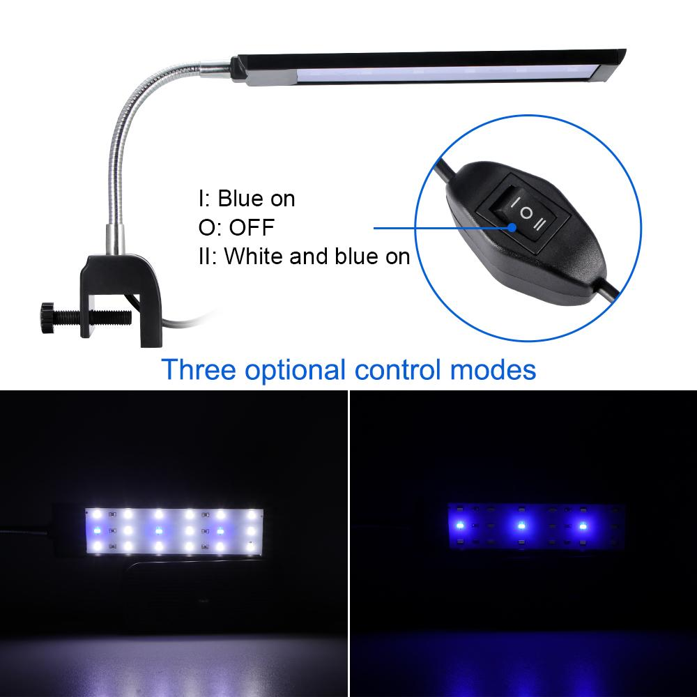 18/27 LED LED Aquarium Lamp Fish Tank Light Flexible Energy Saving Adjustable Clamp Clip Fish Tank Clip Light Aquarium