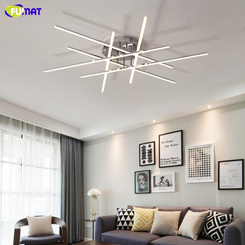 FUMAT Chrome Plated Finish Modern led Chandelier For Living room Bed room Study AC90-265V lustre Home Deco Ceiling Chandelier Fixtures