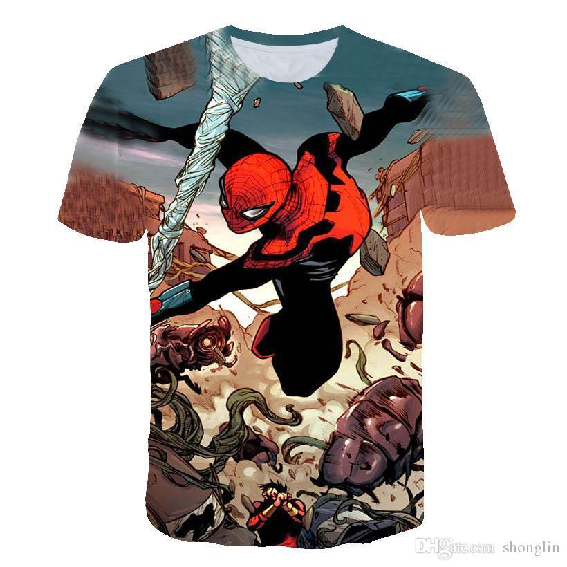 2020 Hot-Verkauf Clown 3D Gedrucktes T-Shirt Männer Joker Gesicht Männer-T-Shirt Clown Short Sleeve Lustige T-Shirts 3d Stück-XXS-6XL # 16