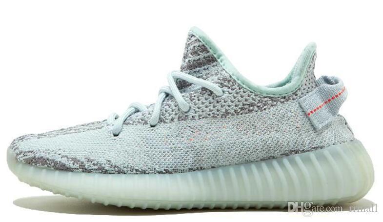 2018 New Red White Stripe Kanye West Bred Halbgefroren Gelb Blau Tint V2 Laufschuhe Zebra Cream White Beluga 2.0 Sneakers Größe 36-46