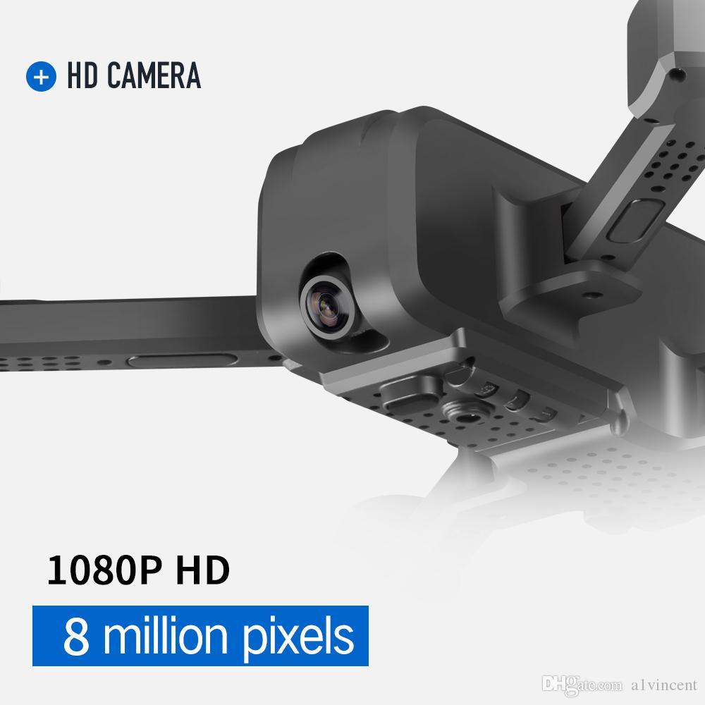مصغرة SMRC S60 HD 1080P كاميرا كاميرا مزدوجة قابلة للطي الطائرة بدون طيار موقف الطول القابضة البصرية تدفق المواقع الهليكوبتر الطائرات هدية الطفل اللعب
