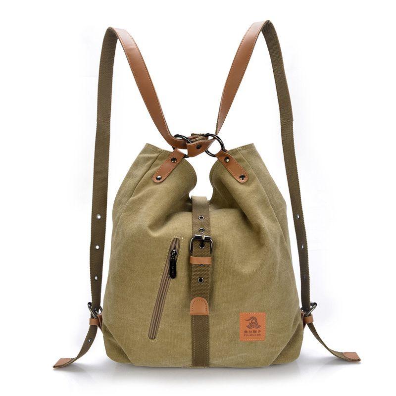 Korean Canvas Printing Backpack Women School Bags For Teenage Girls Bookbags Vintage Female Casual Travel Backpack Mochila Y19051502