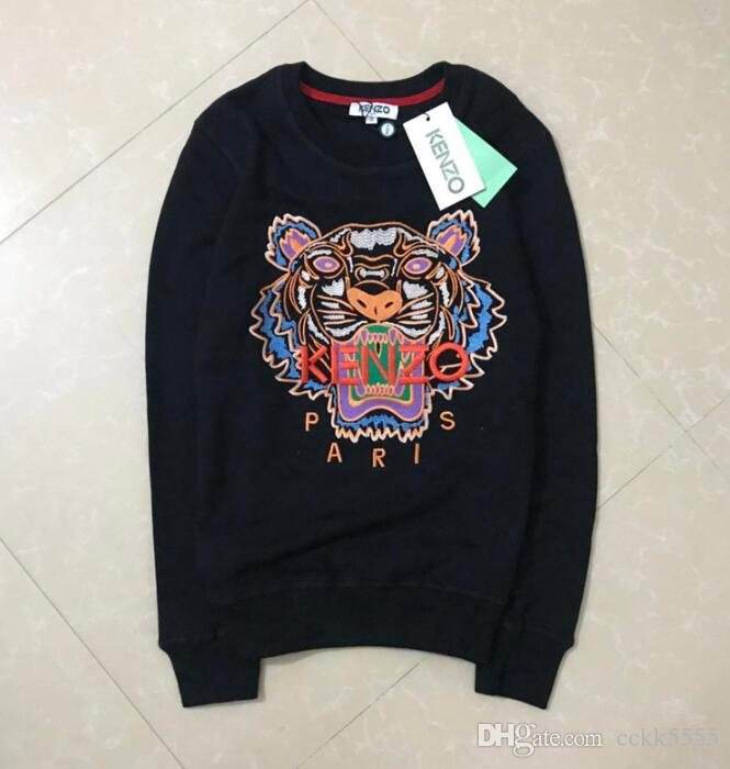 2020 i più nuovi classico vendite Felpe Pull Moda KZ marca calda ricamo della testa della tigre con cappuccio Parigi unisex informale Ponticelli Streetwear