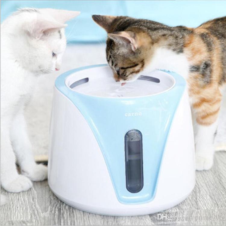 Automatic cane del gatto dellanimale domestico Coniglio cibo erogatore dellacqua della ciotola del piatto colore casuale