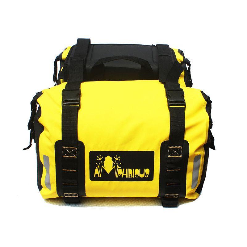 LONGHIKER 1 쌍의 큰 크기 노란색 스쿠터 부품 방수 오토바이 안장 가방화물 파우치 여행 모토 테일 가방 오토바이 사이드 가방 60L