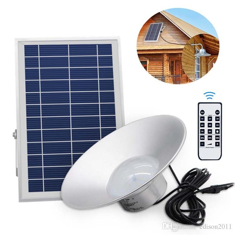 Edison2011 2019 Solar Powered Hanging Lights Outdoor Solar Pendant Lamp 36 LED Aluminium Alloy Shed Light with Remote Control for Garden