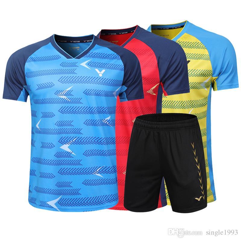 빅터 배드민턴 유니폼, 테니스 셔츠 옷, 배드민턴 테니스 경기 복장, 통기성 스포츠 운동복 테니스 tracksuit, 무료 shippin