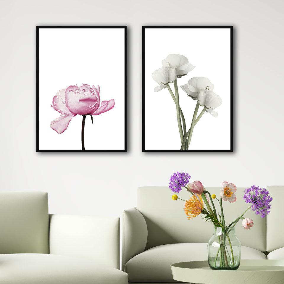 Pink Rose Poster Moth Orchid Canvas Painting Flower Wall Art Print Quote Modern Picture For Living Room On The Wall Home Decor