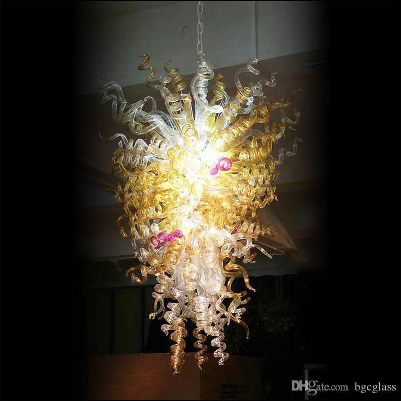 Incrível Chihuly decorativa luminárias 120v / 240v Energy Saving lâmpadas LED Hand Blown candelabro de vidro Murano Designs para teto