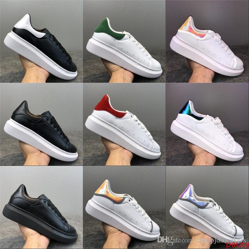 2020 Black Velvet Plate-forme des femmes des hommes chaussures de sport Belle plate-forme Chaussures de sport de luxe Designers Casual Chaussures en cuir Couleurs solides formateur