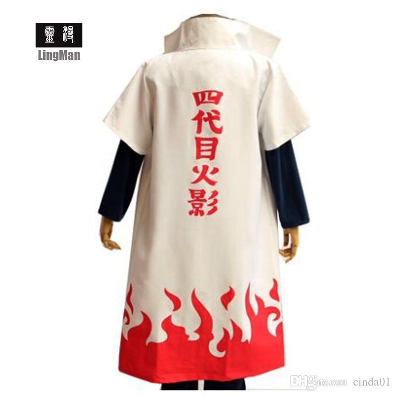 Naruto Yondaime Hokage Character Robe Tema Costume Suit Uomo Donna Divertente Cosplay Abbigliamento Stage Abbigliamento Spedizione gratuita
