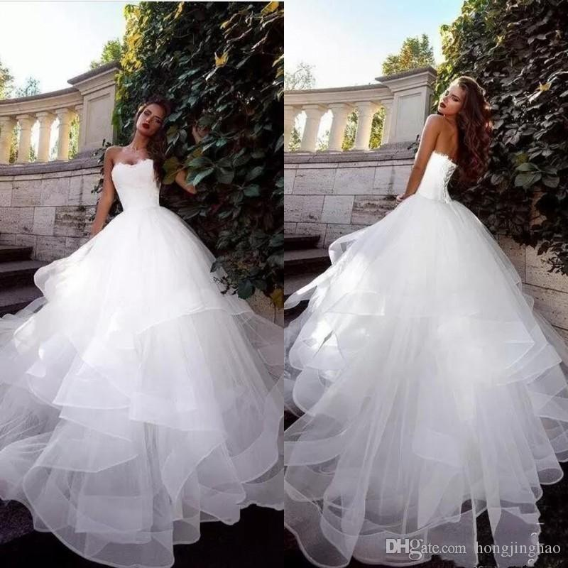 Acheter 2019 Robe Bustier De Mariée Blanche