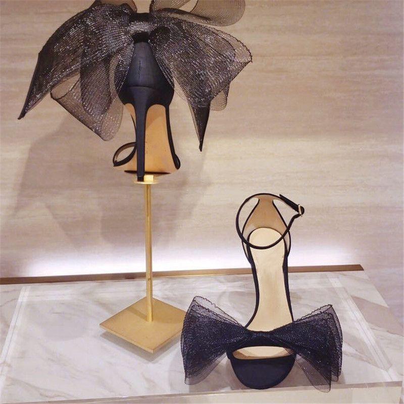 Bow-kravat Sandalet Düğün Şerit Yüksek topuk Peri Ayakkabı Parti Kadın Ayakkabı Şık Bayan Moda Kadın Yeni Yüksek Topuklar
