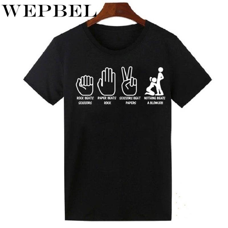 WEPBEL Ofensivo camisa engraçada de t shirt Presentes da mordaça Sex College Humor Joke Rude Homens TShirt Verão algodão de manga curta Tees