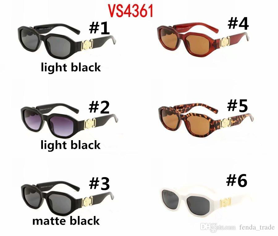 Piccola rotonda retro occhiali da sole donne degli uomini Rivet Leopard Tea Shades VS4631 Vintage 2019 Occhiali da Vista Oculos UV400 6 colori Occhiali da sole
