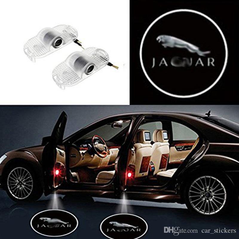 Jaguar XJ XJL için 2x araba kapı ışıkları 2013-2015 LED Lazer Kapı hoşgeldiniz Gölge Projektör Işıkları