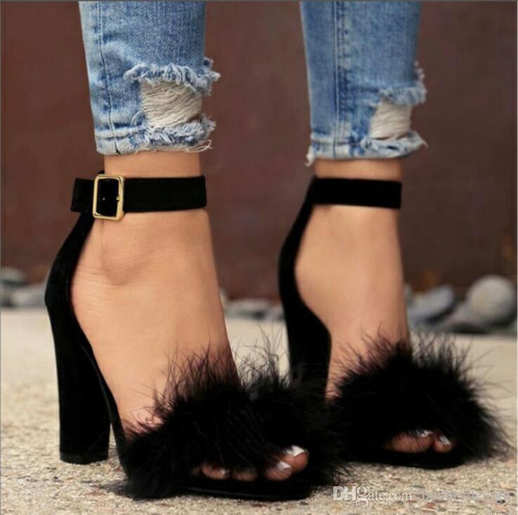 2019 femmes Chaussures d'été de mode T-scène de danse sandales à talon sexy Party Stiletto Chaussures de mariage Brun Noir
