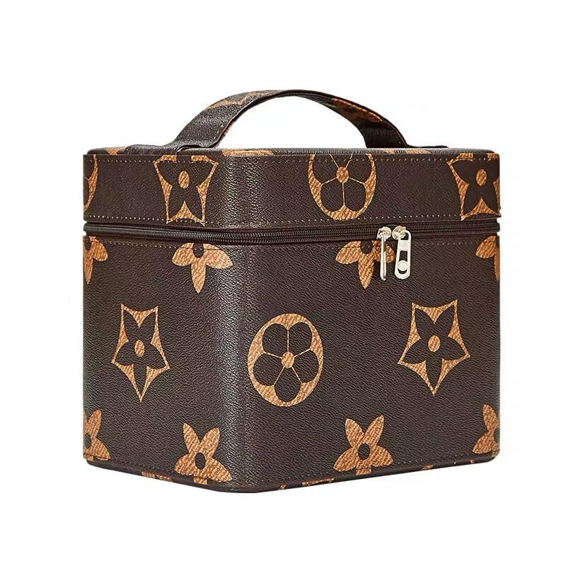 Basic free shipping floral pu bag/wholesale free shipping travel bag/hard case travel bag/beauty cosmetic bag
