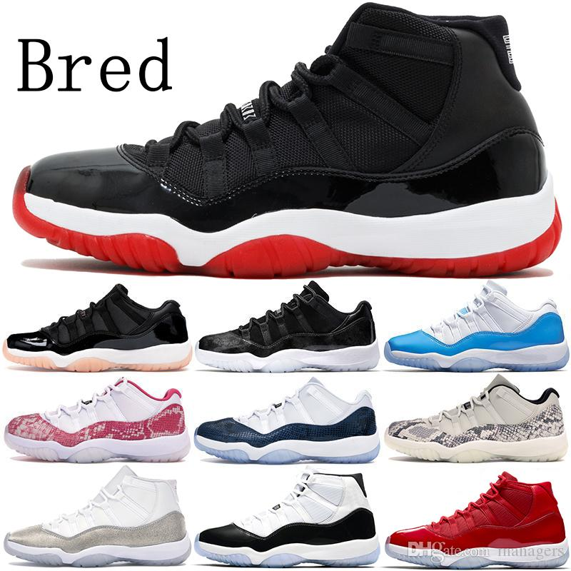 With Keychain new Jumpman 11 11s vast grey Bred 2020 basketball shoes concord 45 cap and gown heiress nightshade men women stylist sneakers