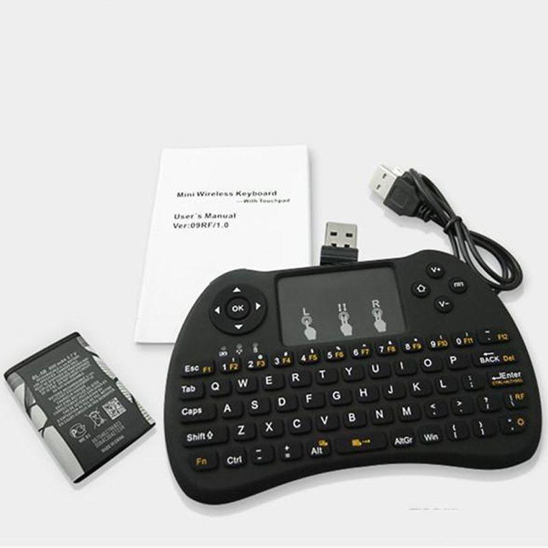 2.4 جيجا هرتز اللاسلكي h9 يطير الهواء الفأر البسيطة qwerty لوحة المفاتيح مع لوحة اللمس الروبوت صندوق التلفزيون التحكم عن gamepad المراقب المالي