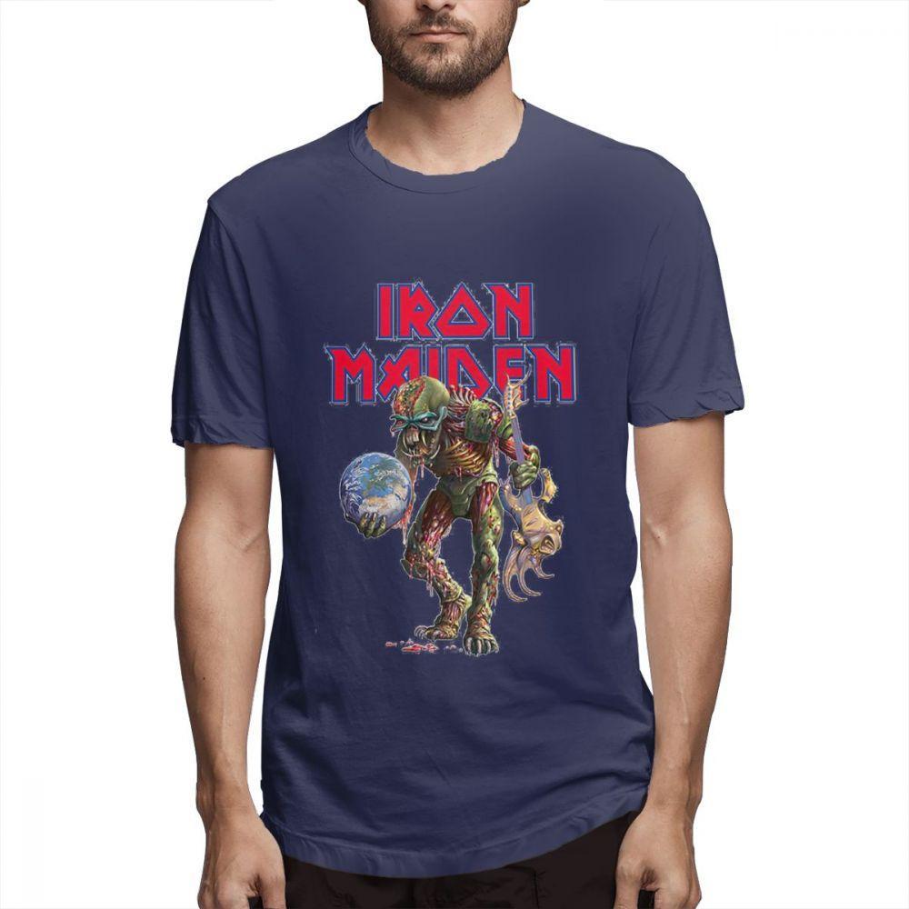 Iron Maiden Tişörtlü Eddie Evrim bant logosu Resmi Erkek Gömlek Komik Bayan Pamuklu Gömlek çiftler gömlek gömlek S006 vuruşu