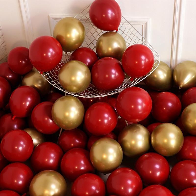 50pcs Kırmızı Lateks Balonlar Düğün Dekorasyon doğum günü partisi Ev Dekoratif Balonlar 12inch Romantik Düğün Parti Malzemeleri