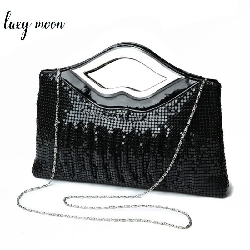 Nouveau luxe Paillette Sacs de soirée de haute qualité main soirée d'embrayage Sacs Sequin perlage Styliste Femme bourse V191114