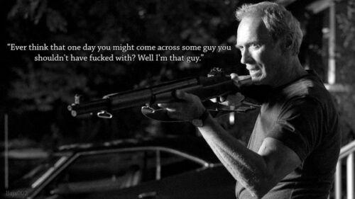 Clint Eastwood - American Film Actors Art regali di seta di poster
