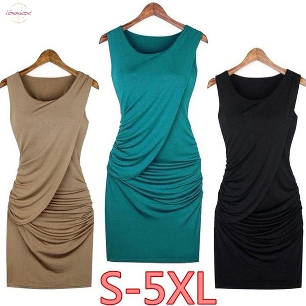 Плюс размер S 5Xl 4 цвета элегантные женские вечерние сексуальные платья летняя мода краткое винтажное платье без рукавов сплошной цвет платья халат Ss