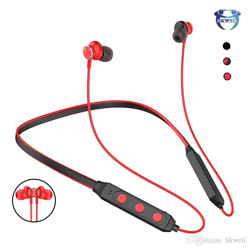 Neckband Bluetooth Headphones Sport Stereo Wireless Headset Magnetic Earphones For Iphone Xs Max Xr Samsung S8 S9 S10 Plus Best Bluetooth Cell Phone Best Bluetooth Earbuds For Cell Phones From Hkweil 5 93