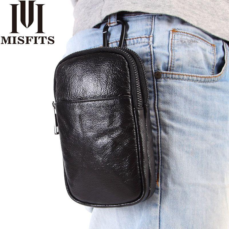 Bolsas de la cintura Quenya Hombres Paquetes de moda de cuero genuino Paquete de fanny Fanny para la bolsa de cinturón de la cadera masculina bolsa de células de correa