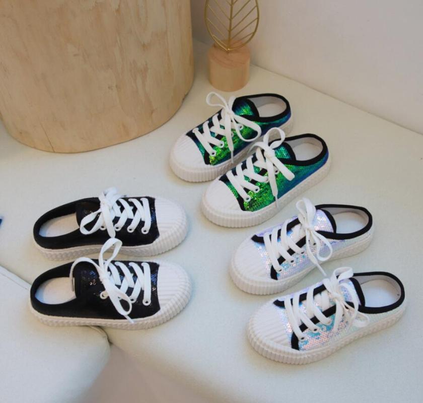 2019 الخريف الأطفال أحذية عارضة بنين بنات أحذية الرياضة تنفس الصلبة اللون حلوى أحذية أطفال قماش الشبكة