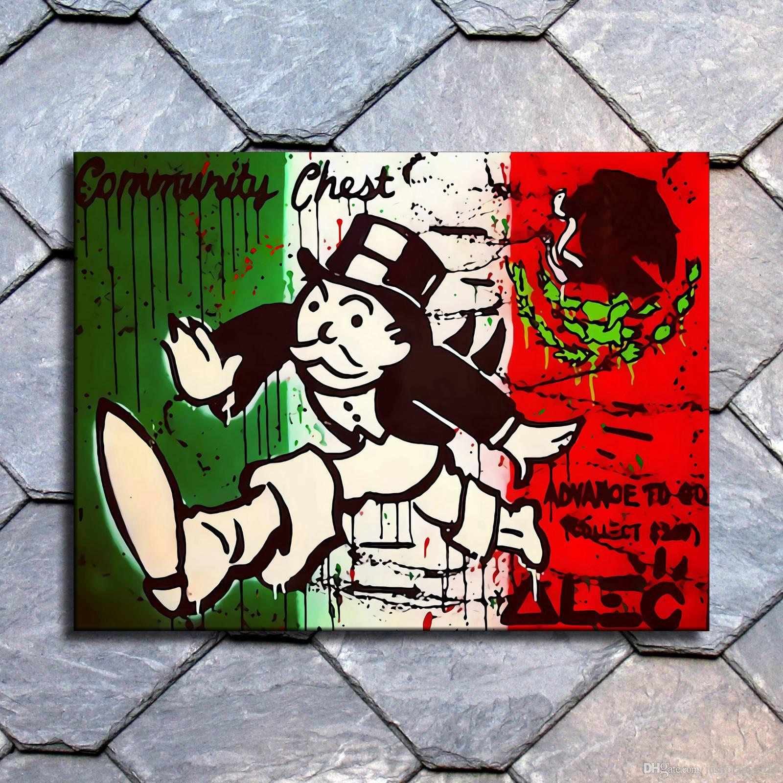 Alec Monopoly HD Print Oil Painting Art on Canvas Uncle Scrooge Money 24x32inch