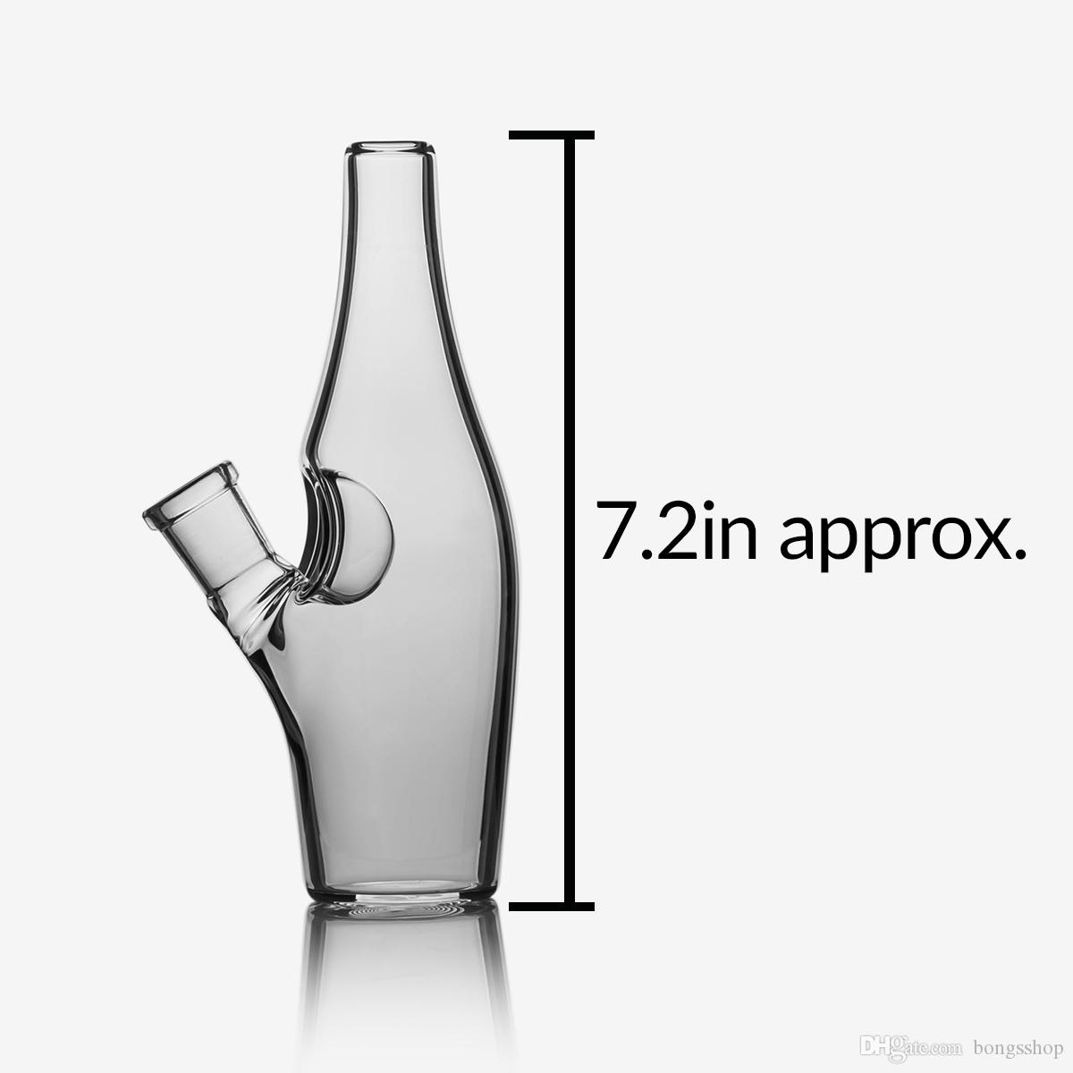 Bong de agua de vidrio de 7 pulgadas con 14 mm femenina femenina femenina Hoodrahs Downtem DAB RIG BONGS PIPE
