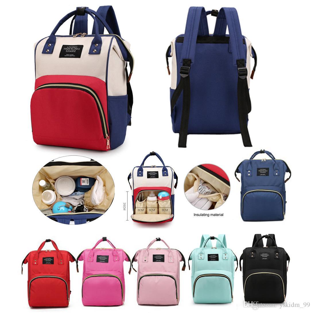Große Kapazität Baby-Diape Taschen Kinder kümmern Waren Taschen Damen-Multi-Funktions-Rucksack Damen leichte Tragetaschen Schultern