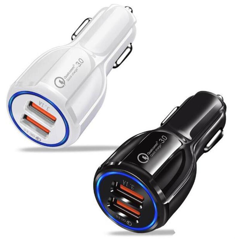 QC3.0 3.1A Schnellladung Qualcomm Quick Charge Kfz-Ladegerät Dual USB-Lade Schnelle Telefon für Handy