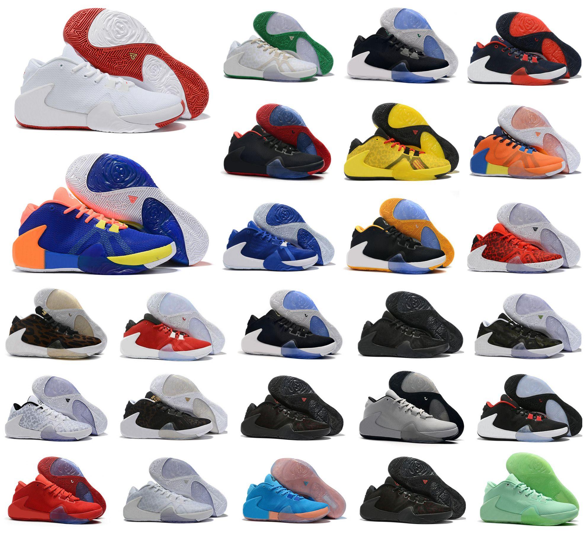 Hot New Style ZOOM Greek Freak 1 Giannis Antetokounmpo GA I 1S Signature Basketball Shoes Cheap GA1 Sports Sneakers Size 40-46