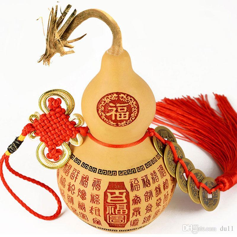 Boyutu: 10-12cm Kaiguang kolye Fujia Doğal Bakır sikke Oyma araba kabak hediye kolye Fujia el fabrika toptan kabak kabak