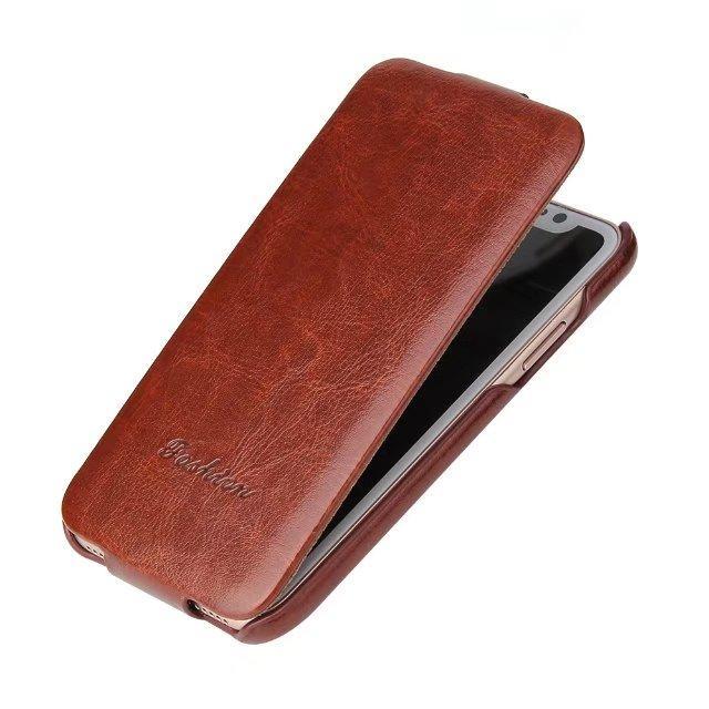 Per iPhone X Custodia a conchiglia Lusso verticale Flip PU Custodia in pelle per iPhone 7/8 6 6S Fino a Giù shell per iphone 8 / XR XS max