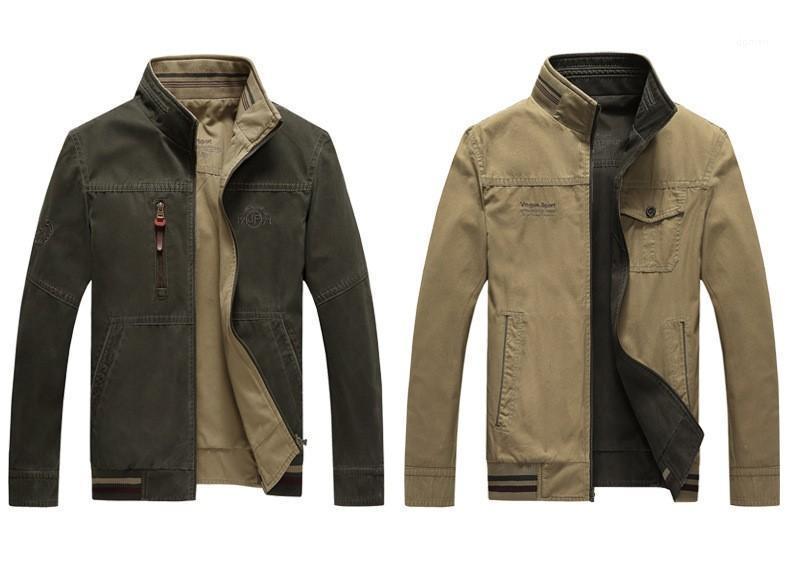 مصمم فضفاضة الذكور الملابس موليت جيوب عكسية أزياء الرجال السترات عارضة زيبر الوقوف الياقة الرجال ملابس خارجية