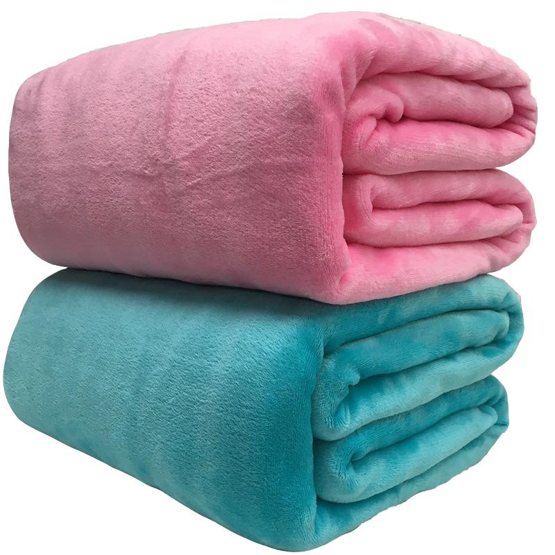 Super Soft Coral Fleece Blanket 220gsm Light Weight Solid Pink Blue Faux Fur Mink Throw Sofa Cover Bedspread Flannel Blankets