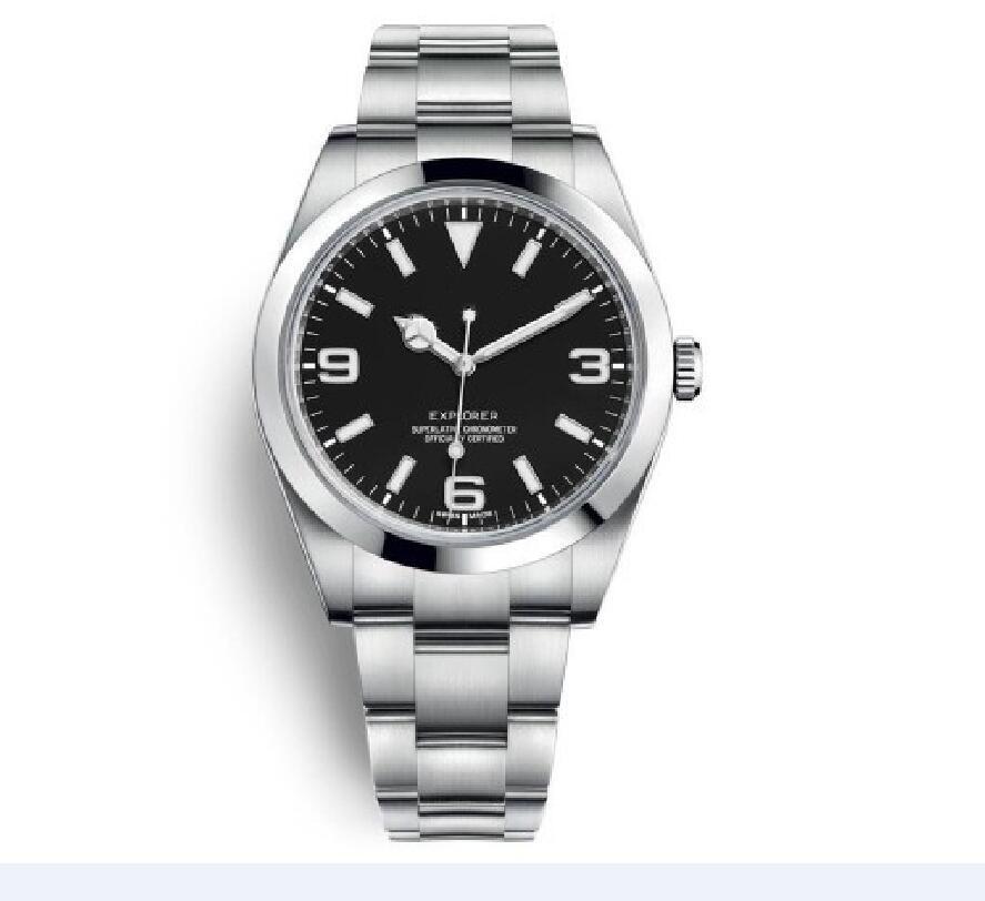 plata del acero inoxidable de los hombres superiores de lujo watchdesigner venda de relojes del reloj mecánico automático, nuevo reloj 2020