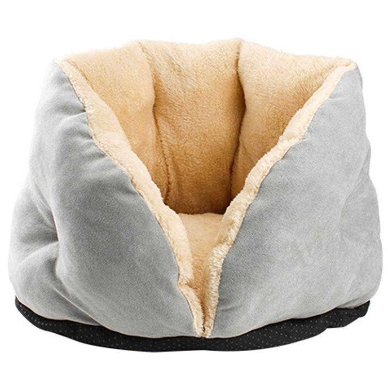 EASY-Quente Dog Cat Bed Ninho Pet Sofás Dog House inscrita em um Círculo Kennel macio velo Cotton Blanket para Puppy Cat Dog Four Seasons Usando