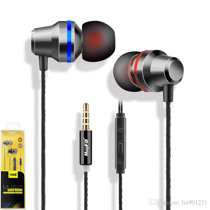 Hangfd X6 Metal In Ear Mobile Phone Headphones Bass And Stress Universal Wire Controlled Voice Calls Magic 3 5mm Earplugs Wired Cell Phone Headsets Wireless Cell Phone Headsets From Liz901221 3 02 Dhgate Com