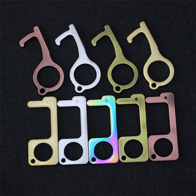 Moda Güvenlik Fotoselli Kapı Açıcı Stylus Anahtar Kanca Metal Eller Serbest Kapı Kolu Açıcı Asansör araçları Anahtarlık T9I00367