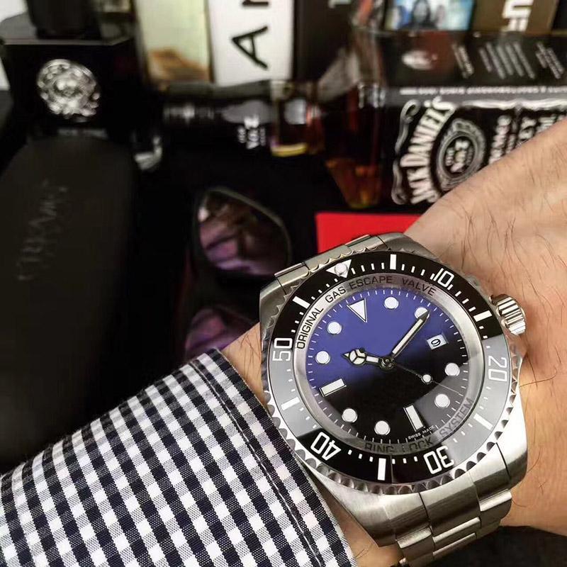 Luxus Herrenuhr voller Edelstahl automatische mechanische Uhr wasserdicht Superleucht Saphir Spiegel Armbanduhr